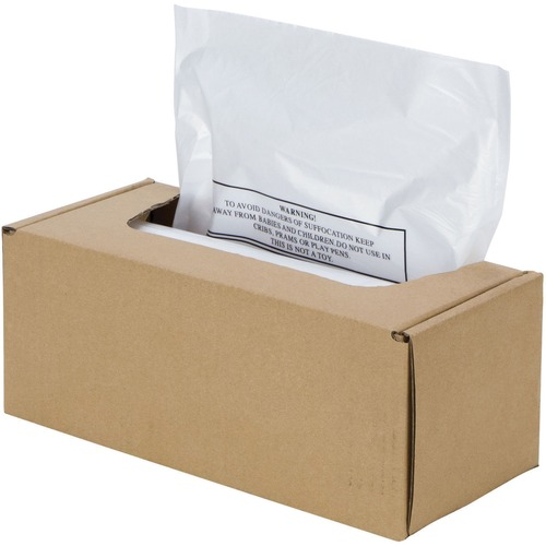 """Fellowes Waste Bags for AutoMax™ 500CL, 500C, 300CL and 300C Shredders - 75.71 L - 31.81"""" (807.97 mm) Height x 37.38"""" (949.45 mm) Width x 23.50"""" (596.90 mm) Depth - Plastic - Opaque"""