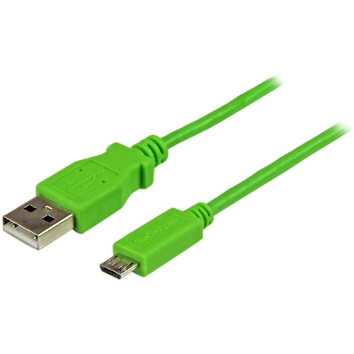 1m Green Mobile Charge Sync USB to Slim Micro USB Cable for Smartphones and Tabl