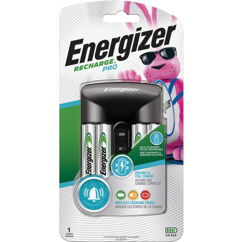 Energizer Recharge Pro AA/AAA Battery Charger - 1 Each - 3 Hour Charging - 4