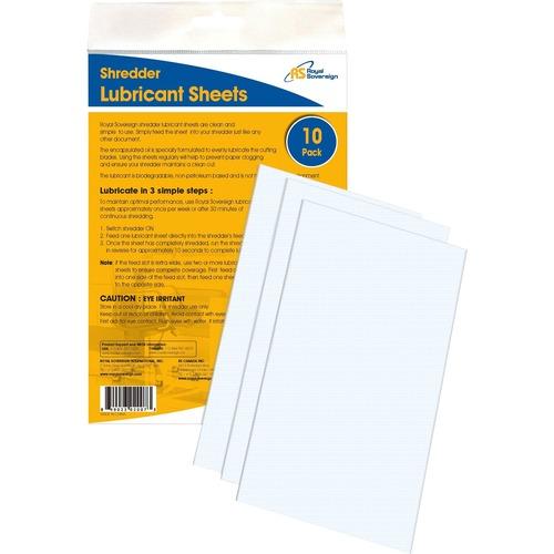 Royal Sovereign shredder lubricant sheets