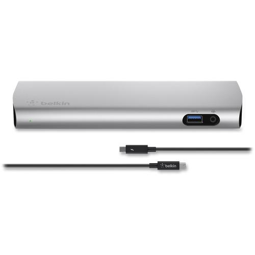 Belkin Thunderbolt 2 Express Dock HD - for Notebook/Desktop PC -  Thunderbolt 2 - 3 x USB Ports - 3 x USB 3 0 - Network (RJ-45) - HDMI -  Microphone - W