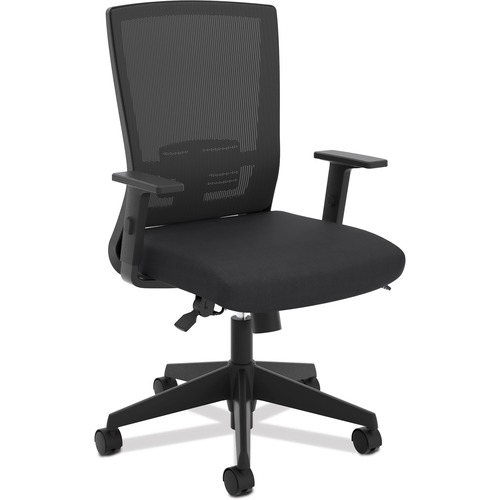 HON Mesh High-Back Task Chair - Foam Black Seat - Black Back - 5-star Base - Black
