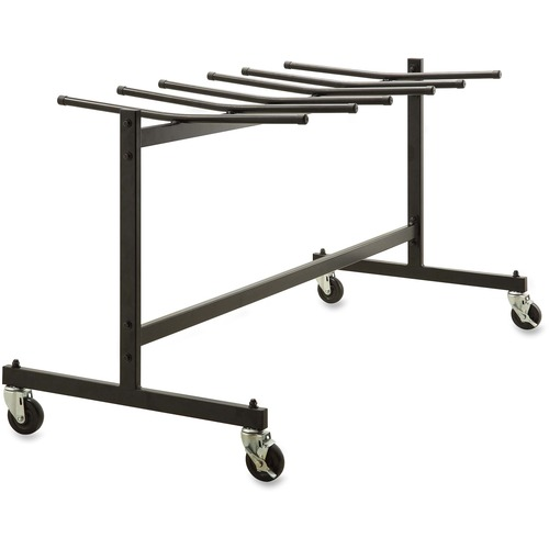 """Lorell Folding Chair Trolley - x 68"""" Width x 30.8"""" Depth x 35.8"""" Height - Black Steel Frame - Black - For 42 Devices - 1 Each"""