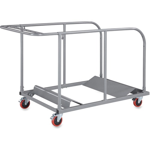 """Lorell Round Planet Table Trolley Cart - Steel - x 32.8"""" Width x 52"""" Depth x 40.2"""" Height - Charcoal - For 16 Devices - 1 Each"""