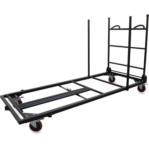 """Lorell Blow Mold Rectangular Table Trolley Cart - Steel - x 30"""" Width x 45.3"""" Depth x 75.9"""" Height - Charcoal - For 20 Devices - 1 Each"""