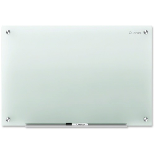 """Quartet Infinity Non-Magnetic Glass Dry-Erase Board - 72"""" (6 ft) Width x 48"""" (4 ft) Height - Frost Glass Surface - Rectangle - 1 Each"""