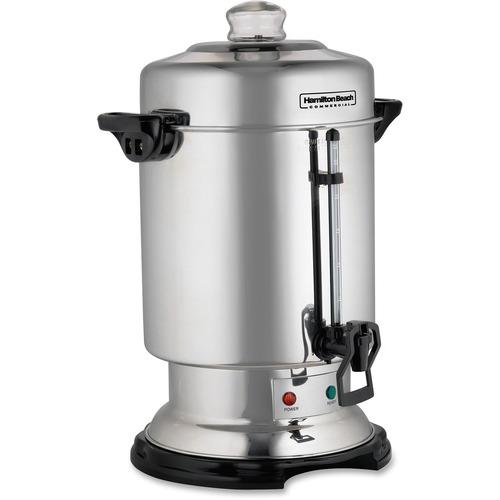 Hamilton Beach 60 Cup Stainless Steel Coffee Urn D50065C - 60 Cup(s) - Multi-serve - Stainless Steel - Stainless Steel, Glass