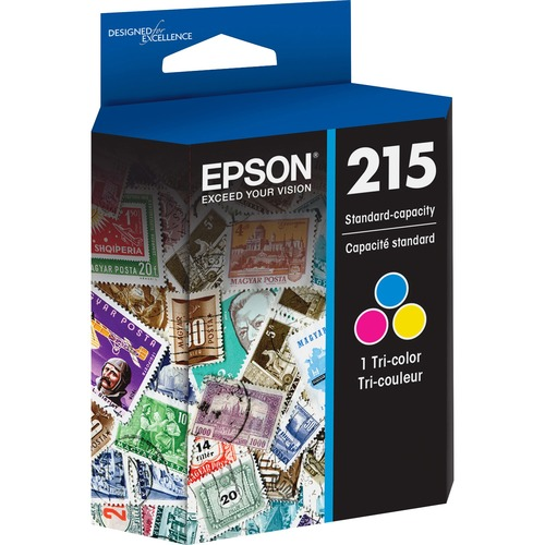 Epson DURABrite Ultra T215 Original Ink Cartridge | Cyan, Magenta, Yellow