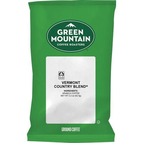 Green Mountain Coffee Vermont Country Blend Regular Coffee - Regular - Vermont Country Blend - 2.2 oz - 100 CoffeeBag - 100 / Carton