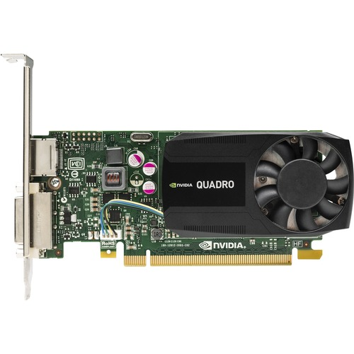 HP Quadro K620 Graphic Card | 2 GB DDR3 SDRAM | PCI Express 2.0 x16 | Low-profile | Single Slot Space Required