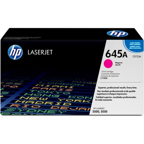 HP 645A Toner Cartridge - Magenta - Laser - 12000 Page - 1 Pack