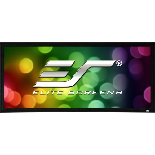 """Elite Screens SableFrame ER100WH2 Fixed Frame Projection Screen   100""""   16:9   Wall Mount"""