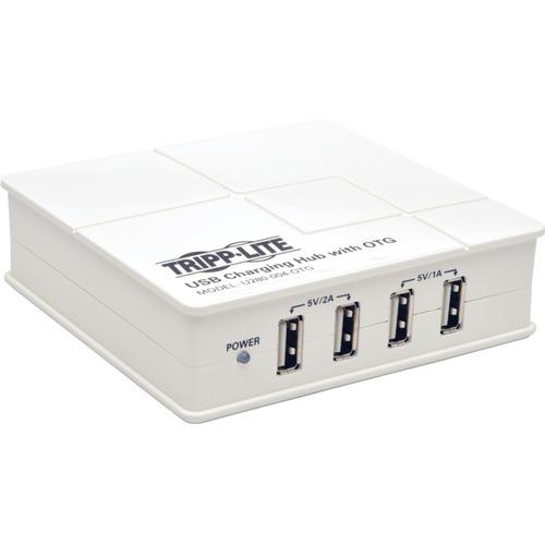 Tripp Lite 4-Port USB Charging Hub w/ OTG Hub Tablet Smartphone Ipad Iphone