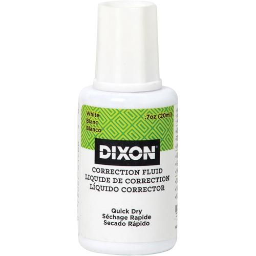 Dixon Universal Correction Fluid - Brush Applicator - 20 mL - White - Non-toxic - 1 Each