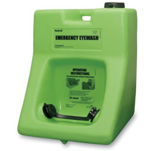 Honeywell Eyewash Station (English) with Eyesaline Concentrate (English/ French) - 60.57 L - 0.25 Hour - Green