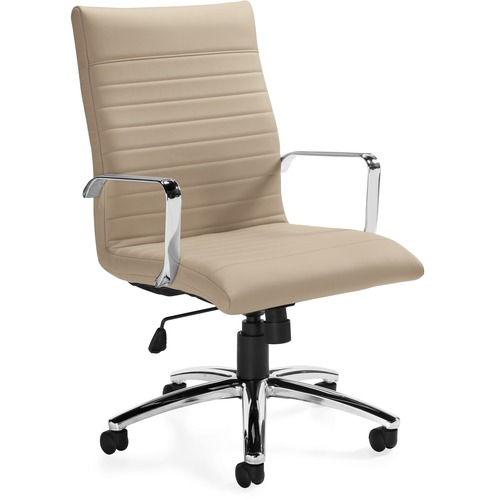 Offices To Go Ultra MVL11730 Executive Chair - Taupe PU Leather Seat - 5-star Base