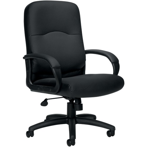 Offices To Go Executive/High Back Chair - Black Mock Leather Seat - 5-star Base