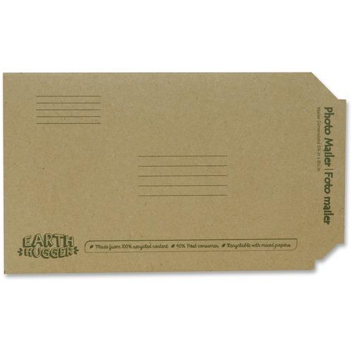 "Seal-It Earth Hugger Photo/Document Mailers - Multipurpose - 8 1/2"" Width x 5 3/4"" Length - Kraft - 1 Each"