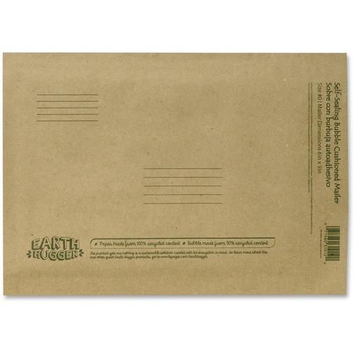 """Seal-It Kraft Bubble Mailers - Bubble - #0 - 6"""" Width x 9"""" Length - Self-sealing - Kraft - 1 Each - Manila"""