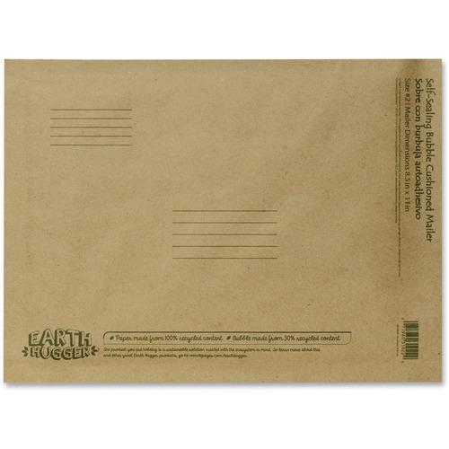 """Seal-It Kraft Bubble Mailers - Bubble - #2 - 8 1/2"""" Width x 11"""" Length - Self-sealing - Kraft - 1 Each - Manila"""