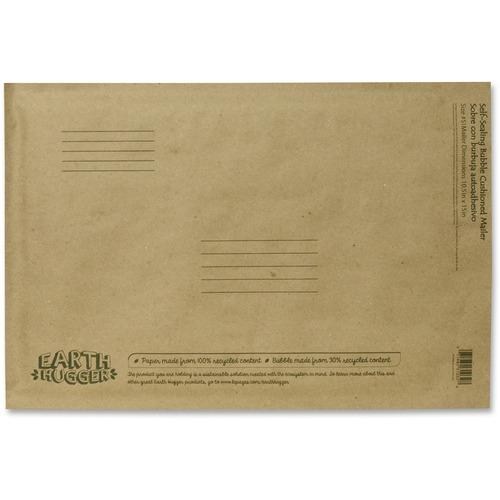 """Seal-It Kraft Bubble Mailers - Bubble - #5 - 10 1/2"""" Width x 15"""" Length - Self-sealing - Kraft - 1 Each"""