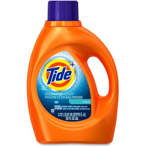 Tide Liquid 2X Coldwater Detergent - Liquid - 92 fl oz (2.9 quart) - Fresh ScentJug - 1 Each
