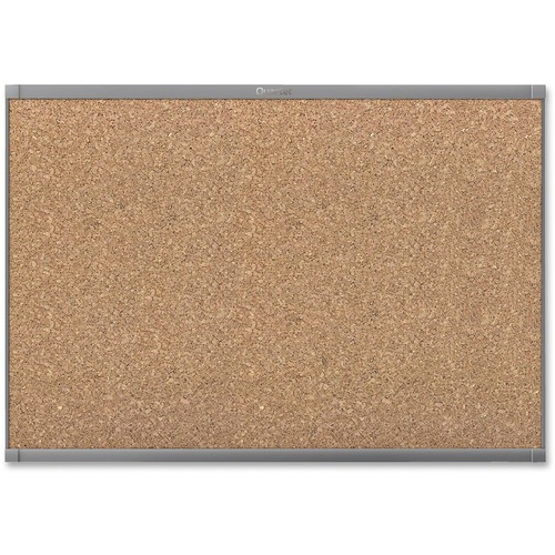 "Quartet Prestige 2 Graphite Frame Magnetic Cork Board - 24"" (609.60 mm) Height x 36"" (914.40 mm) Width - Cork Surface - Magnetic - Graphite Frame - 1 Each"