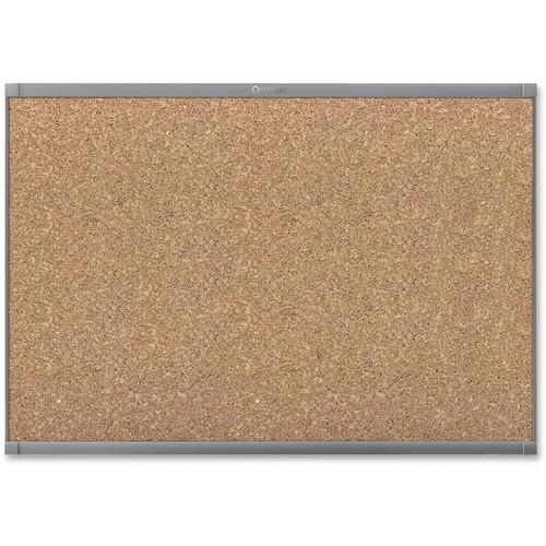"Quartet Prestige 2 Graphite Frame Magnetic Cork Board - 36"" (914.40 mm) Height x 48"" (1219.20 mm) Width - Cork Surface - Magnetic - Graphite Frame - 1 Each"