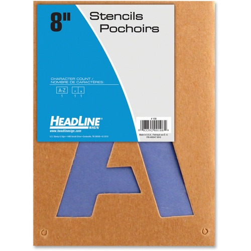 """U.S. Stamp & Sign Brown Paper Capital Letters Stencils - 8"""" (203.20 mm) - Gothic - Capital Letter - Natural, Purple"""