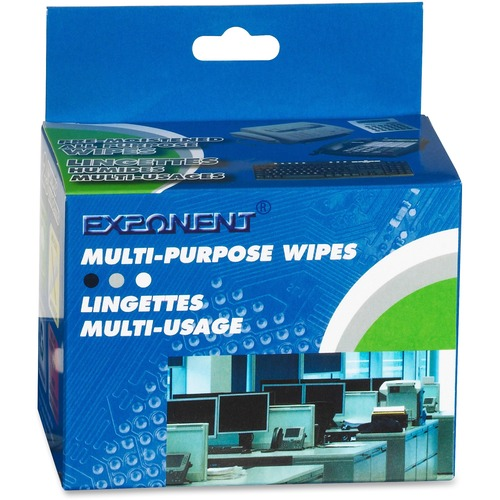 Exponent Microport Multipurpose Premoistened Wipes - For Keyboard, Mobile Phone, Calculator - Pre-moistened, Environmentally Friendly, Anti-static - 25 / Pack