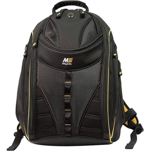 """Mobile Edge - Express Backpack 2.0 - 16""""/17"""" Mac - Yellow. """"Express Backpack 2.0 Protective Laptop Compartment will hold up to 16"""" Laptops Newly Redesigned Five Fashion Trim Color Options Roomy Interior with Pockets for CDs, MP3 Player, Keys, and Acces"""