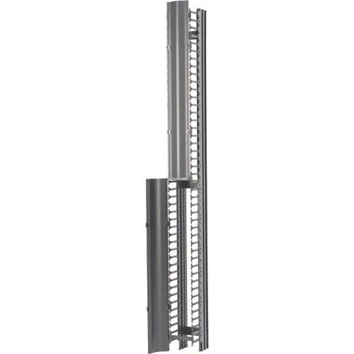 "B-Line RCM+ Vertical Cable Manager, Single Sided High Density, 6""W X 84""H, Flat Black"