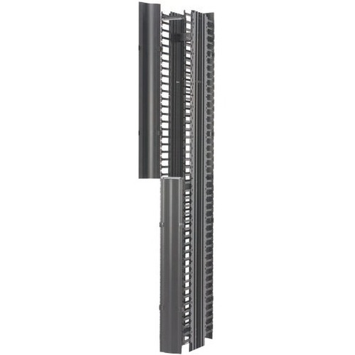 "B-Line RCM+ Vertical Cable Manager, Dual Sided High Density, 6""W X 84""H, Flat Black"