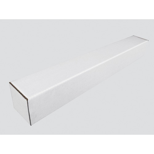 """Spicers Square Mailing Tube 25"""" x 3"""" White - 25"""" Width x 3"""" Length - White"""