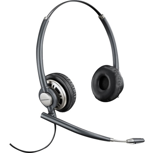 Plantronics EncorePro HW720 Wired Stereo Headset - Over-the-head - Supra-aural - Dark Grey