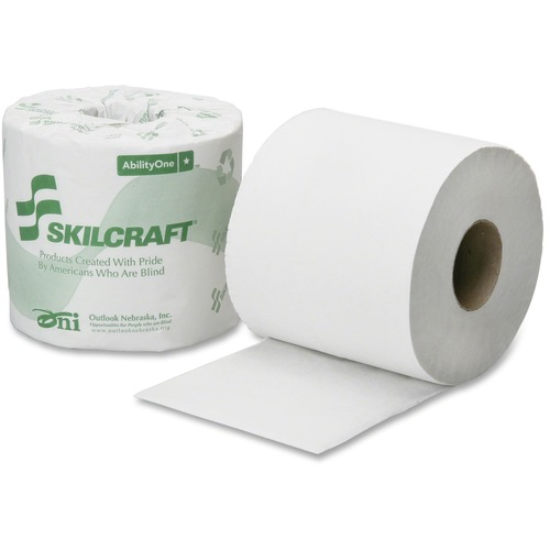 SKILCRAFT 1-Ply PCF Individual Toilet Tissue Rolls