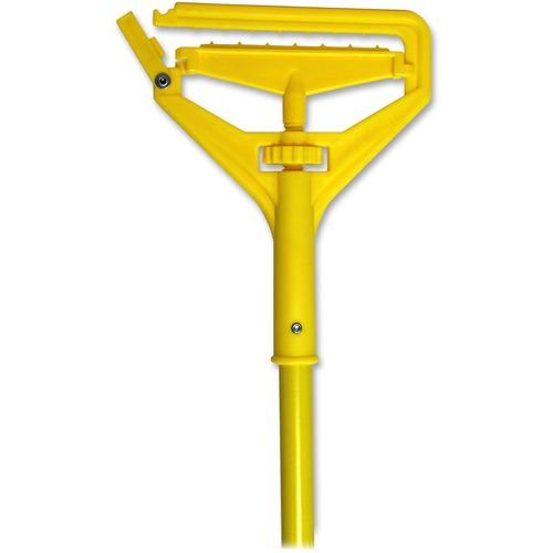 Genuine Joe Speed Change Mop Handle - Yellow - Fiberglass - 1 Each