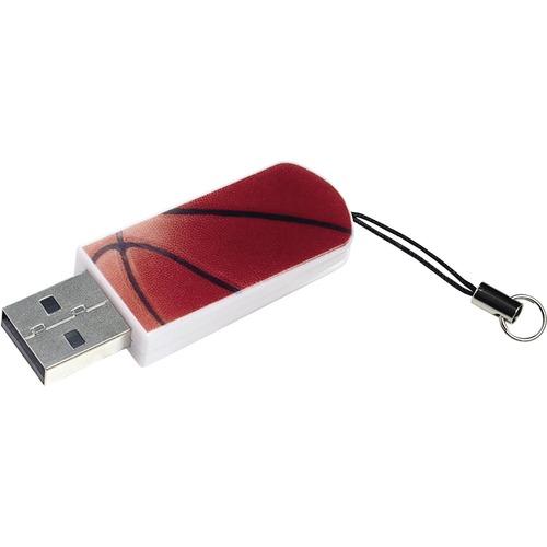Verbatim 16GB Mini USB Flash Drive, Sports Edition | Basketball