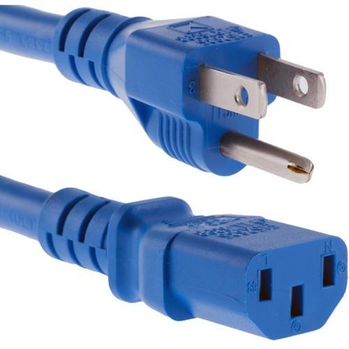 Unirise 3ft Blue Desktop/ Monitor/ TV Power Cord, 5/15P-C13, SVT, 10amp, 125V