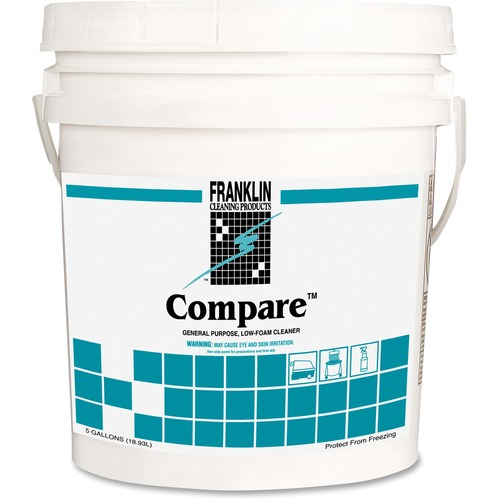 Franklin Cleaning Compare General Purpose Cleaner - Liquid - 5 gal (640 fl  oz) - Fresh Herbal, Pleasant Scent - 1 Each - Dark Green