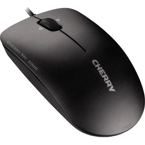 CHERRY MC 2000 Mouse - Infrared - Cable - 3 Buttons - Black