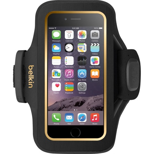Belkin Slim-Fit Plus Carrying Case Armband for iPhone 6 - Black - Armband