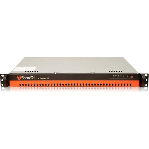 ShoreTel UC Server 25 Rack-mountable Server   Intel Celeron J1900 Quad-core (4 Core) 2 GHz   4 GB Installed   500 GB HDD   Windows Server 2012 R2