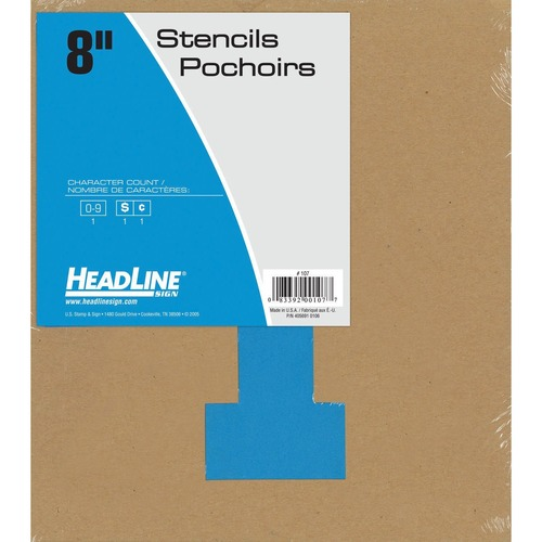 """Headline 8"""" Numbers - 8"""" (203.20 mm) - Gothic - Number - Clear"""