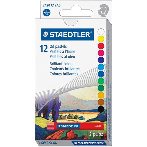 "Staedtler Oil Pastels - 2.76"" (70 mm) Length - 0.43"" (11 mm) Diameter - Assorted - 1 / Pack"