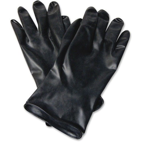 """Honeywell 11"""" Unsupported Butyl Gloves - Chemical Protection - Butyl - Black - Water Resistant, Durable, Chemical Resistant, Ketone Resistant, Rolled Beaded Cuff, Comfortable, Abrasion Resistant, Cut Resistant, Tear Resistant, Puncture Resistant - For Che"""
