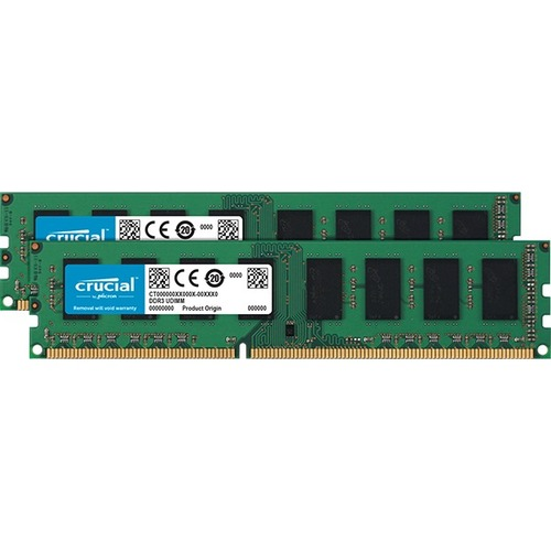Crucial RAM Module - 16 GB 2 x 8 GB - DDR3L SDRAM - 1600 MHz DDR3L-1600/PC3-12800 - 1.50 V - Unbuffered - CL11 - 240-pin - DIMM