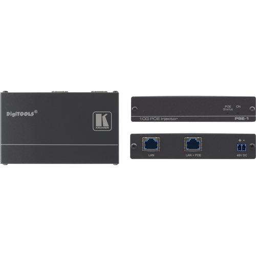 Kramer 10Gb UHD Power Over Ethernet Injector