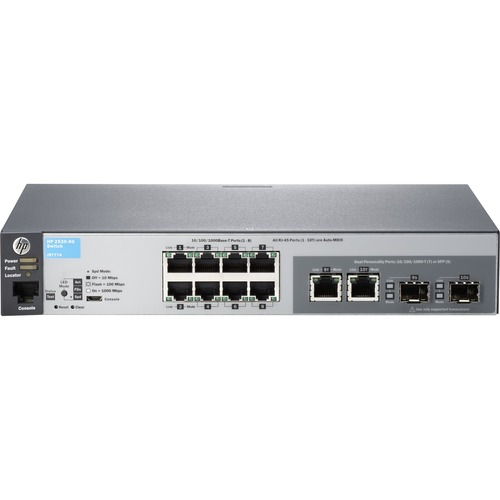 HP 2530-8G 8 Ports Manageable Ethernet Switch