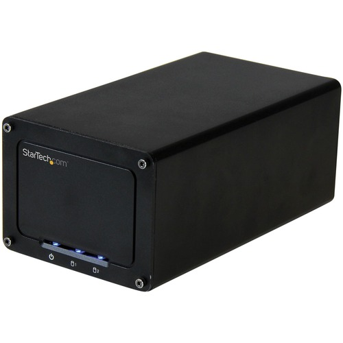 "StarTech.com USB 3.1 (10Gbps) External Enclosure for Dual 2.5"" SATA Drives 